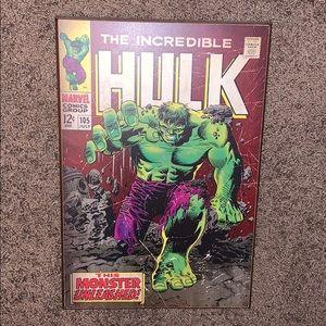 Marvel The Incredible Hulk Wood Wall Art